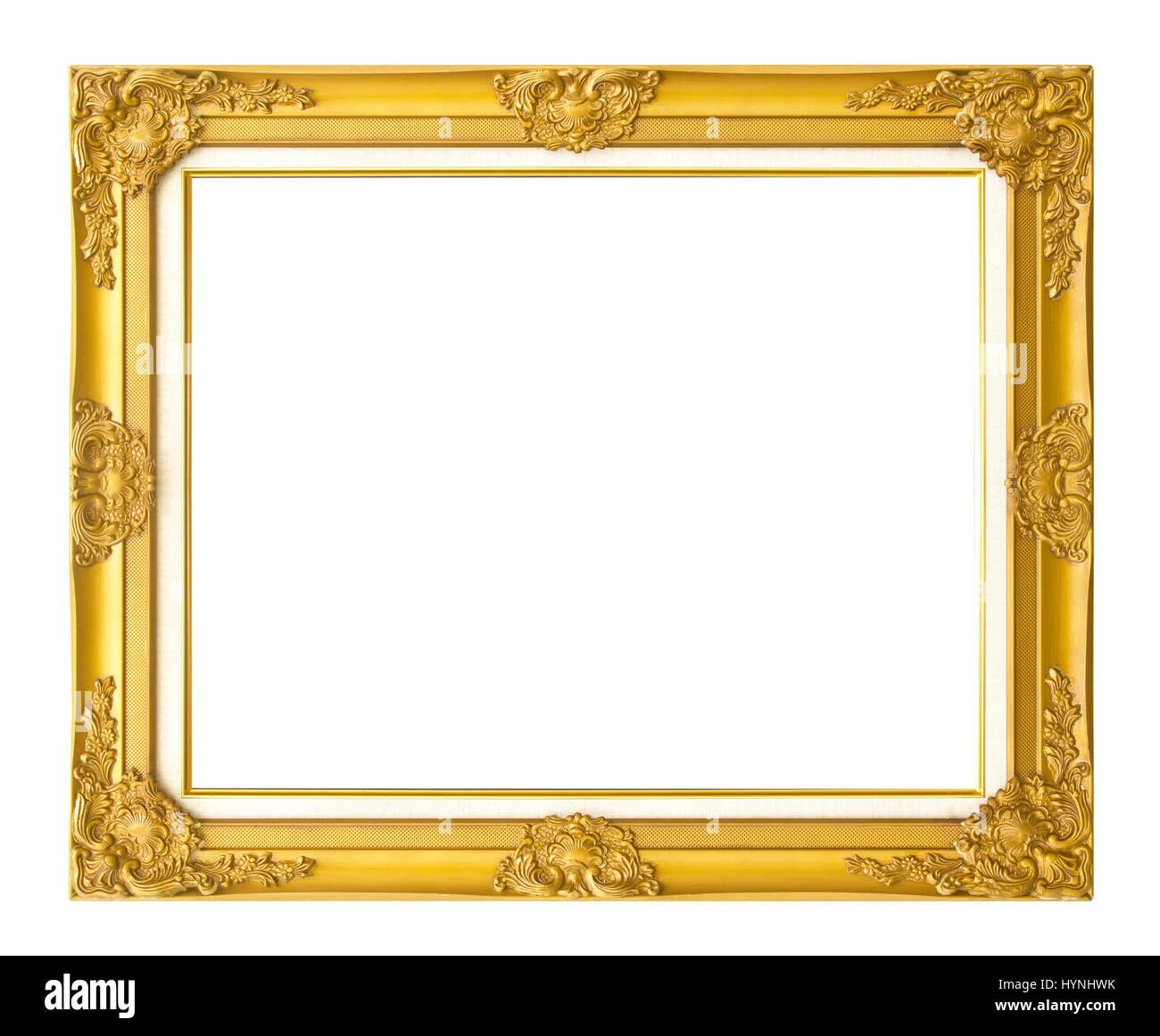 Antik Goldrahmen isoliert auf weißem Hintergrund/Gold Bilderrahmen ...