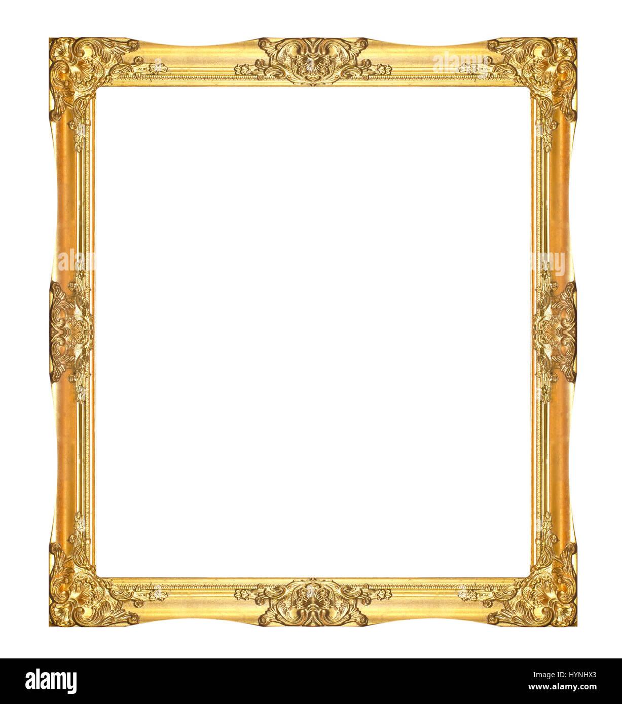 Gold Floral Vintage Frame Stockfotos & Gold Floral Vintage Frame ...