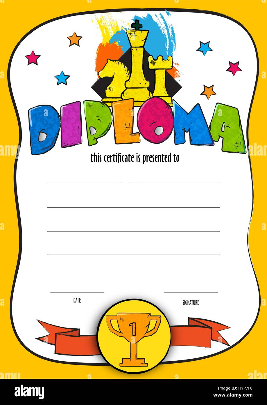 Certificate Diploma Completion Vector Design Stockfotos ...