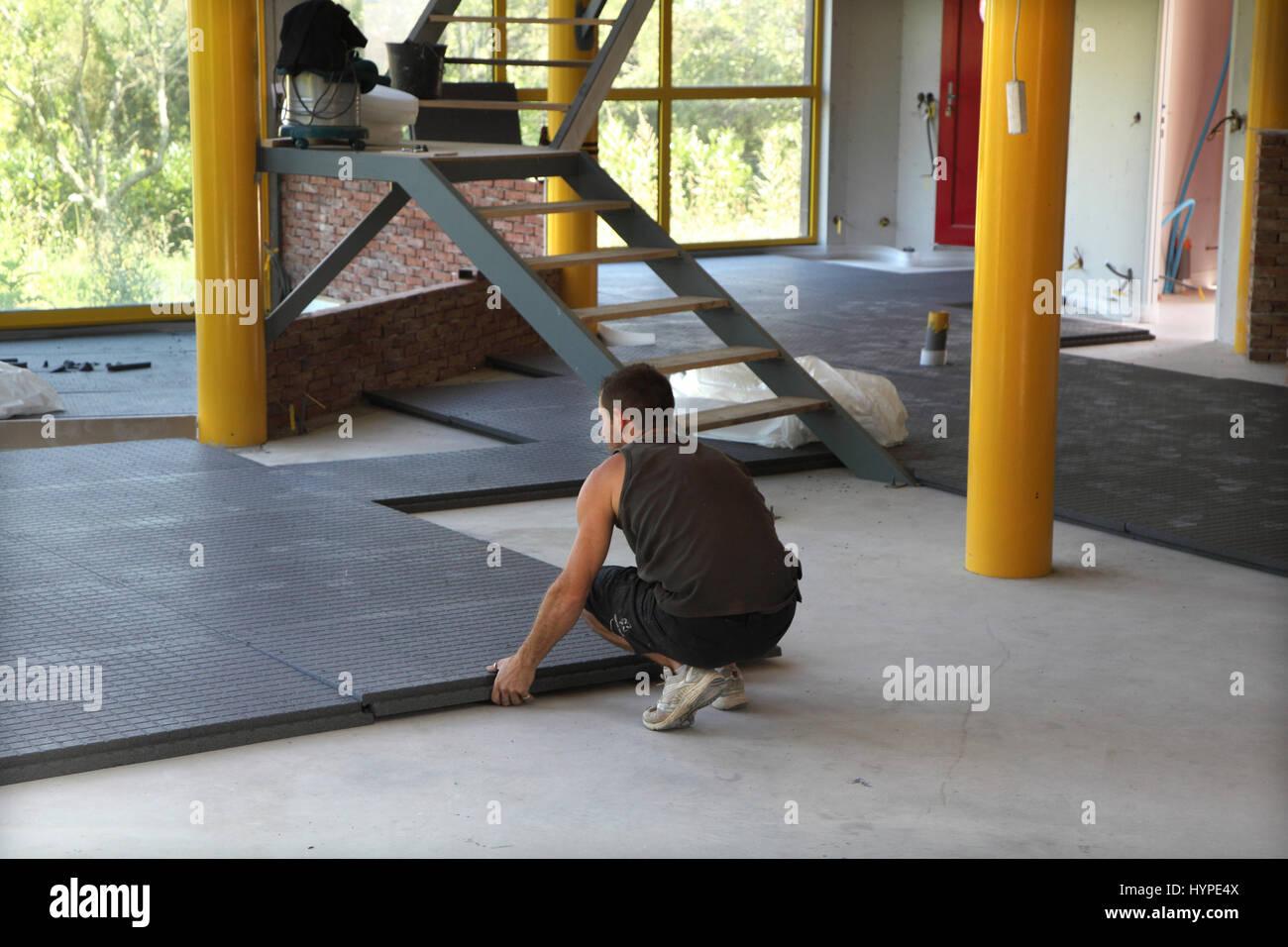 Fußboden Dämmen Platten ~ Frankreich hausbau installation einer wärmepumpe und einen