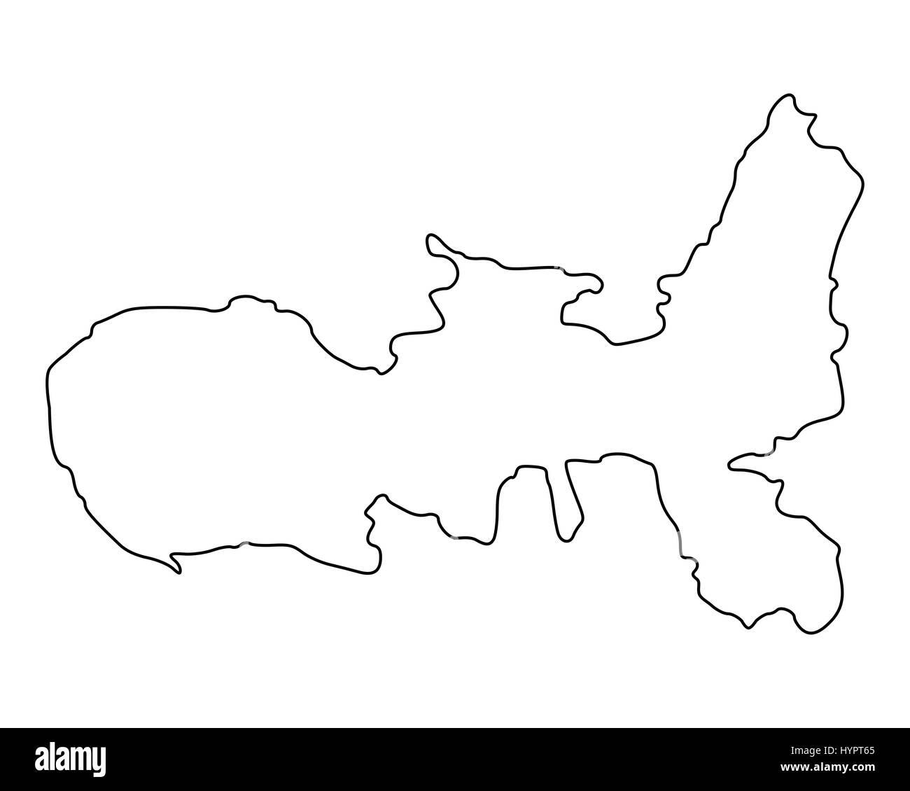 Insel Elba Karte.Karte Der Insel Elba Stockfoto Bild 137570221 Alamy