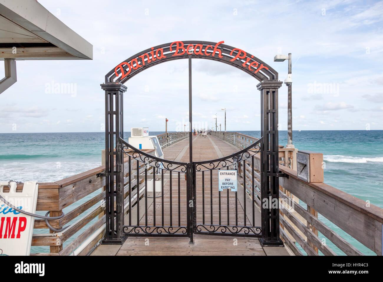 Hollywood Beach Fl Usa 13 März 2017 Dania Beach Fishing Pier