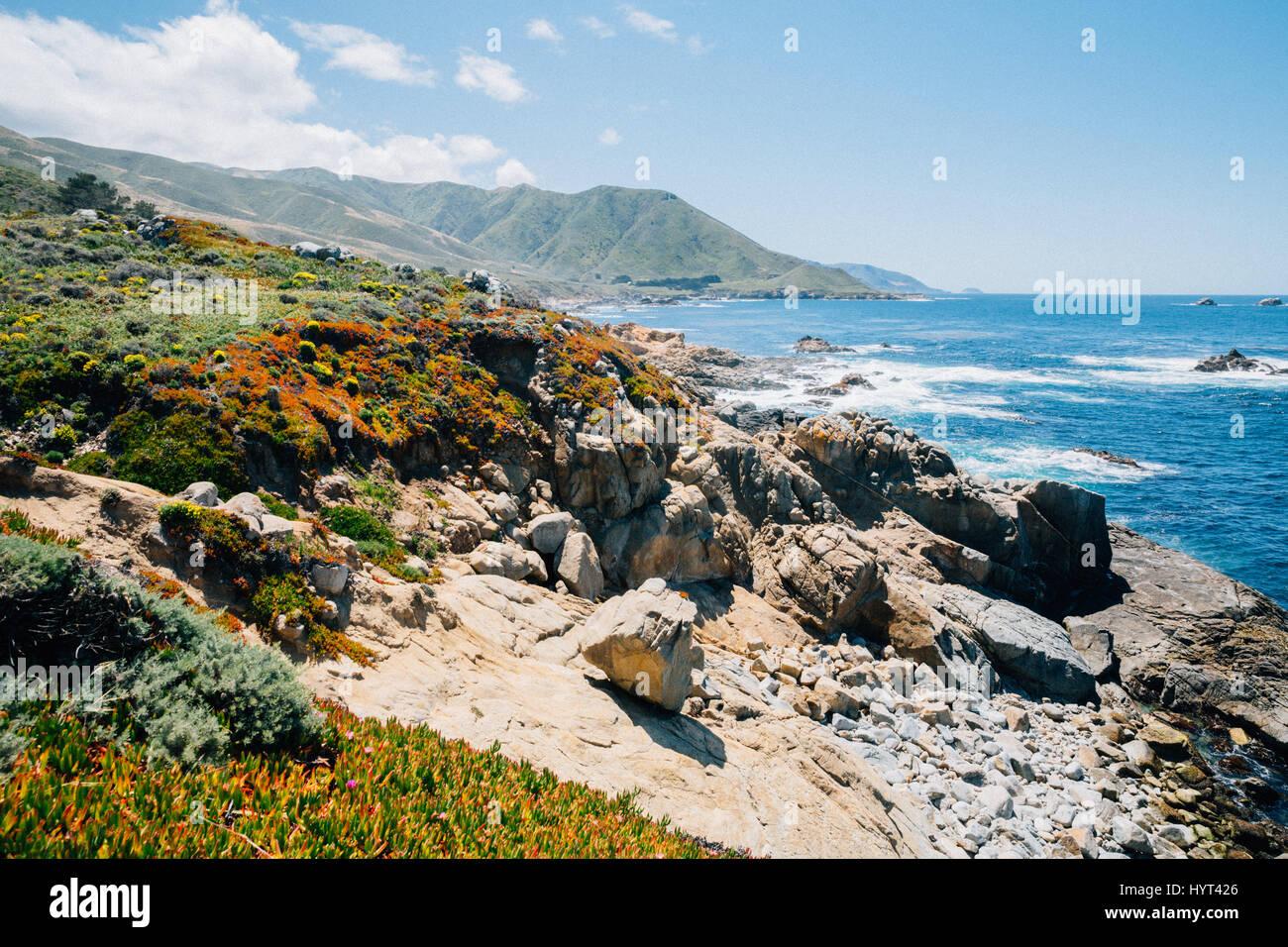 Big Sur-Kalifornien Küste Stockbild