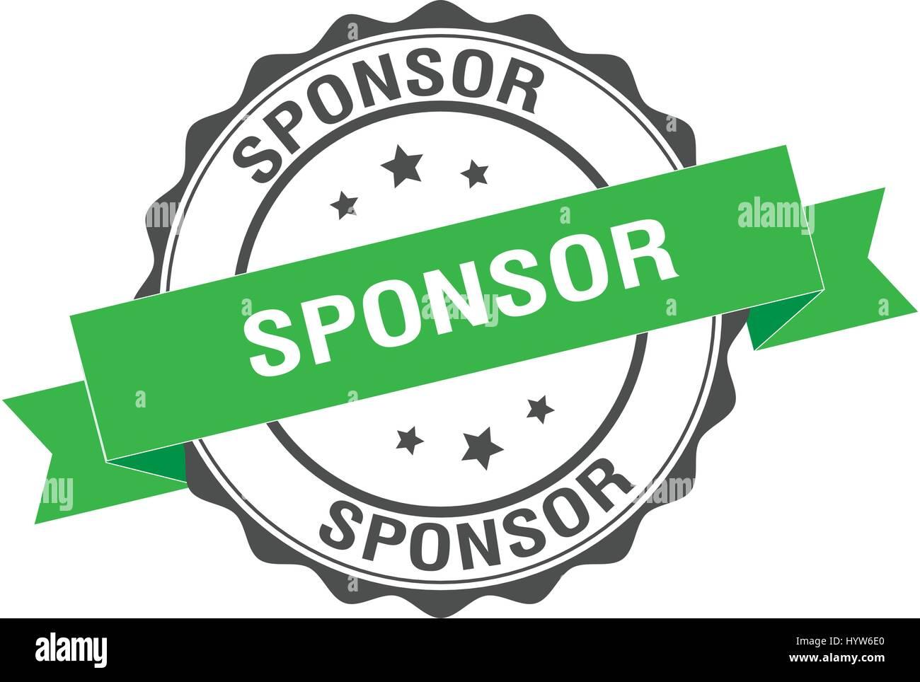 Sponsor-Stempel-Abbildung Stockbild