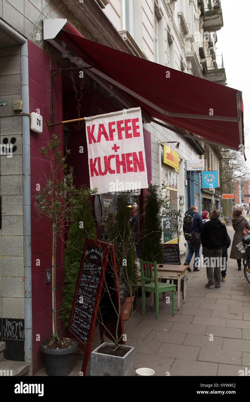 Flagge Die Werbung Kaffee Und Kuchen Kaffee Und Kuchen In
