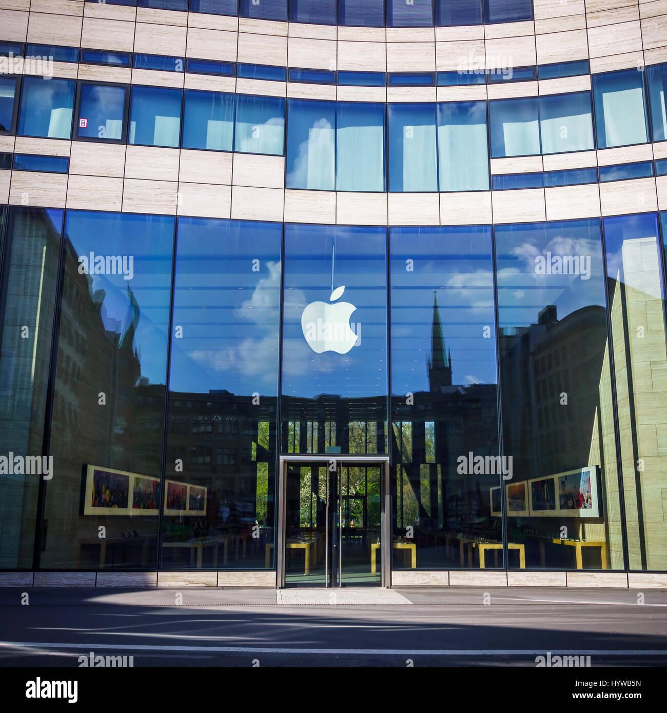 Hypermoderne Düsseldorf, Deutschland - 2. April 2017: The Apple Store, an einem PX-31