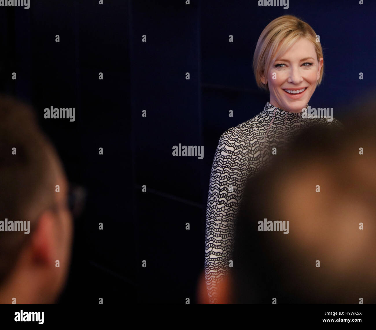 New York City, USA. 26. April 2017. Cate Blanchett besucht das Tribeca Film Festival-Screening des Manifests auf Stockbild