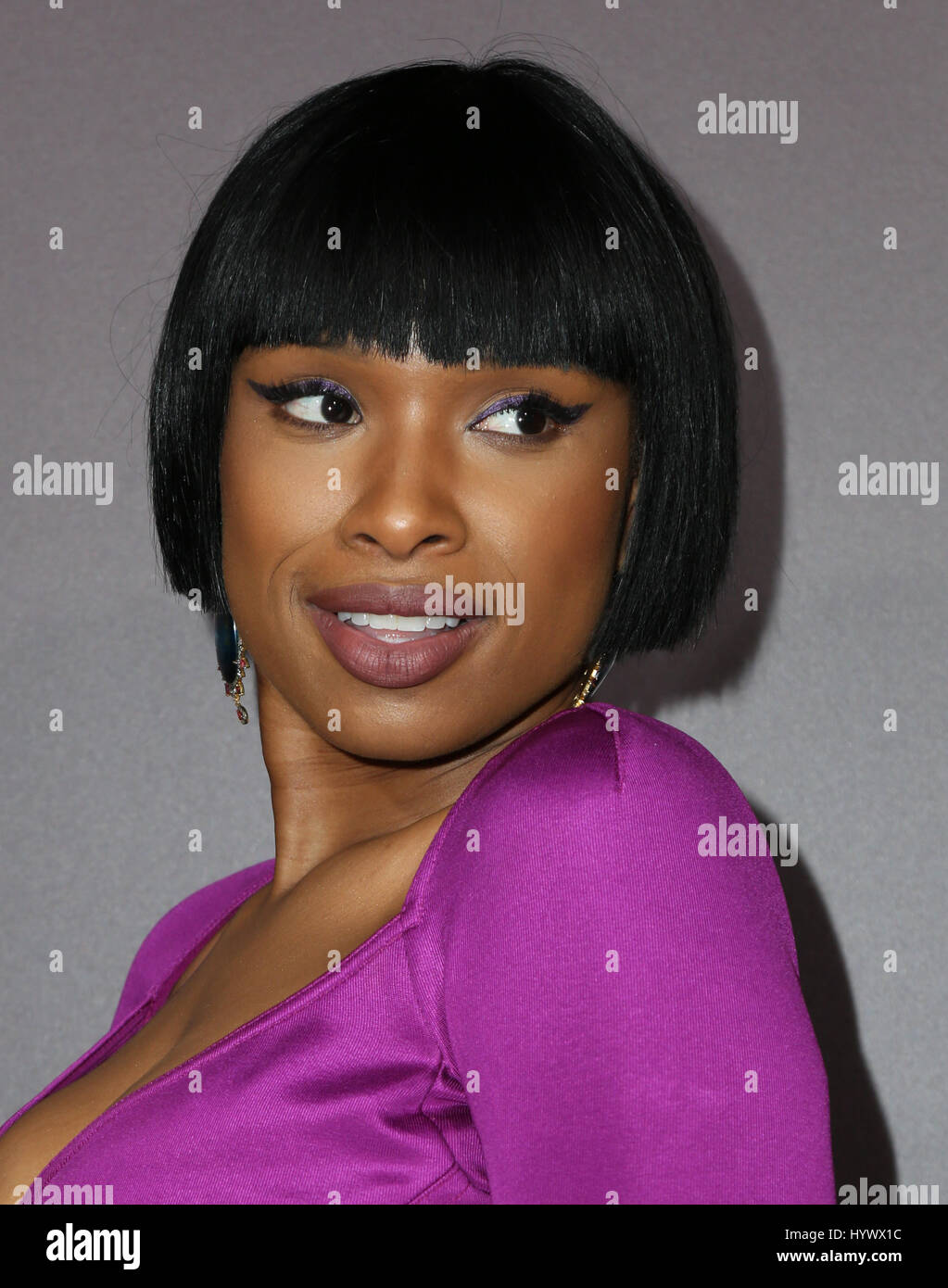 "Los Angeles, USA. 6. April 2017. Jennifer Hudson, die Premiere von Netflix ""Sandy Wexler"". Bildnachweis: Stockbild"