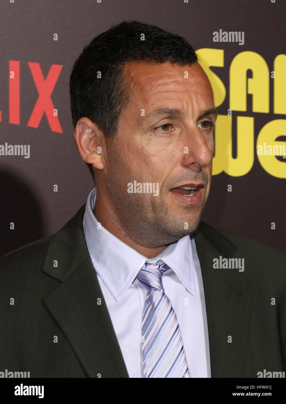 "Los Angeles, USA. 6. April 2017. Adam Sandler, die Premiere von Netflix ""Sandy Wexler"". Bildnachweis: Stockbild"