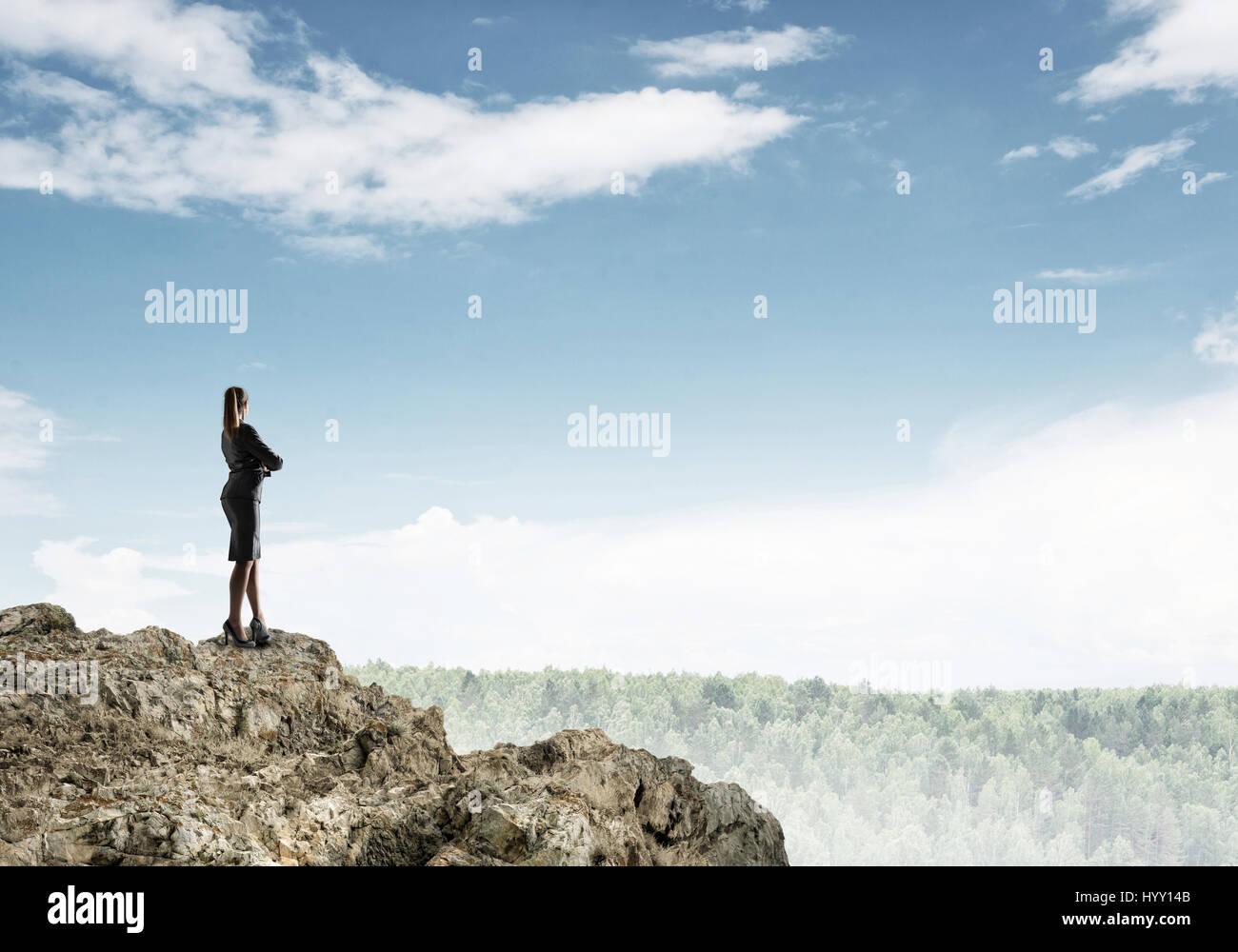 Spitze des Erfolgs zu erreichen Stockbild