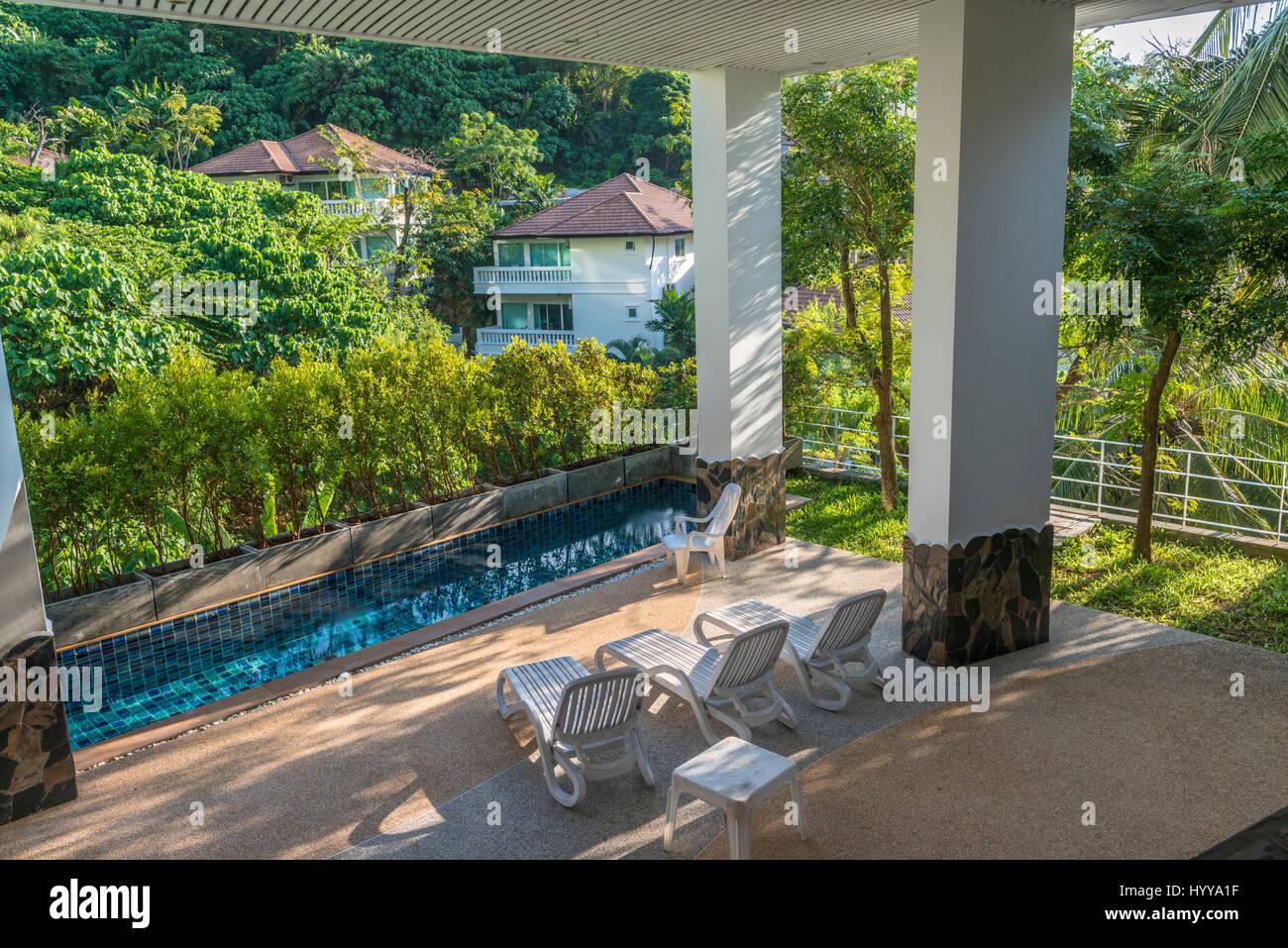 Luxuriöse Unterkünfte in Phuket, Thailand. 9. März 2017 Stockbild