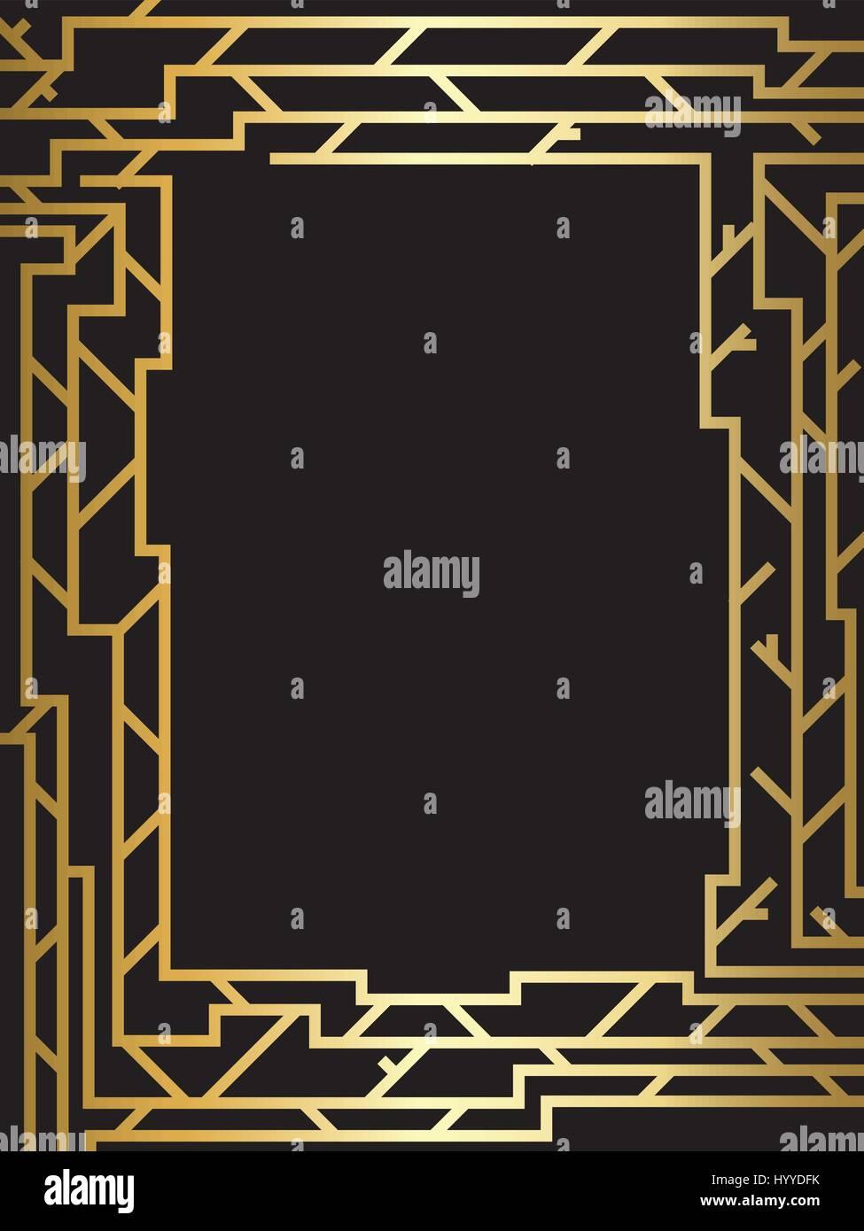 Gold Holz-Rahmen-Design. Web Design, Technologie, Wissenschaft ...