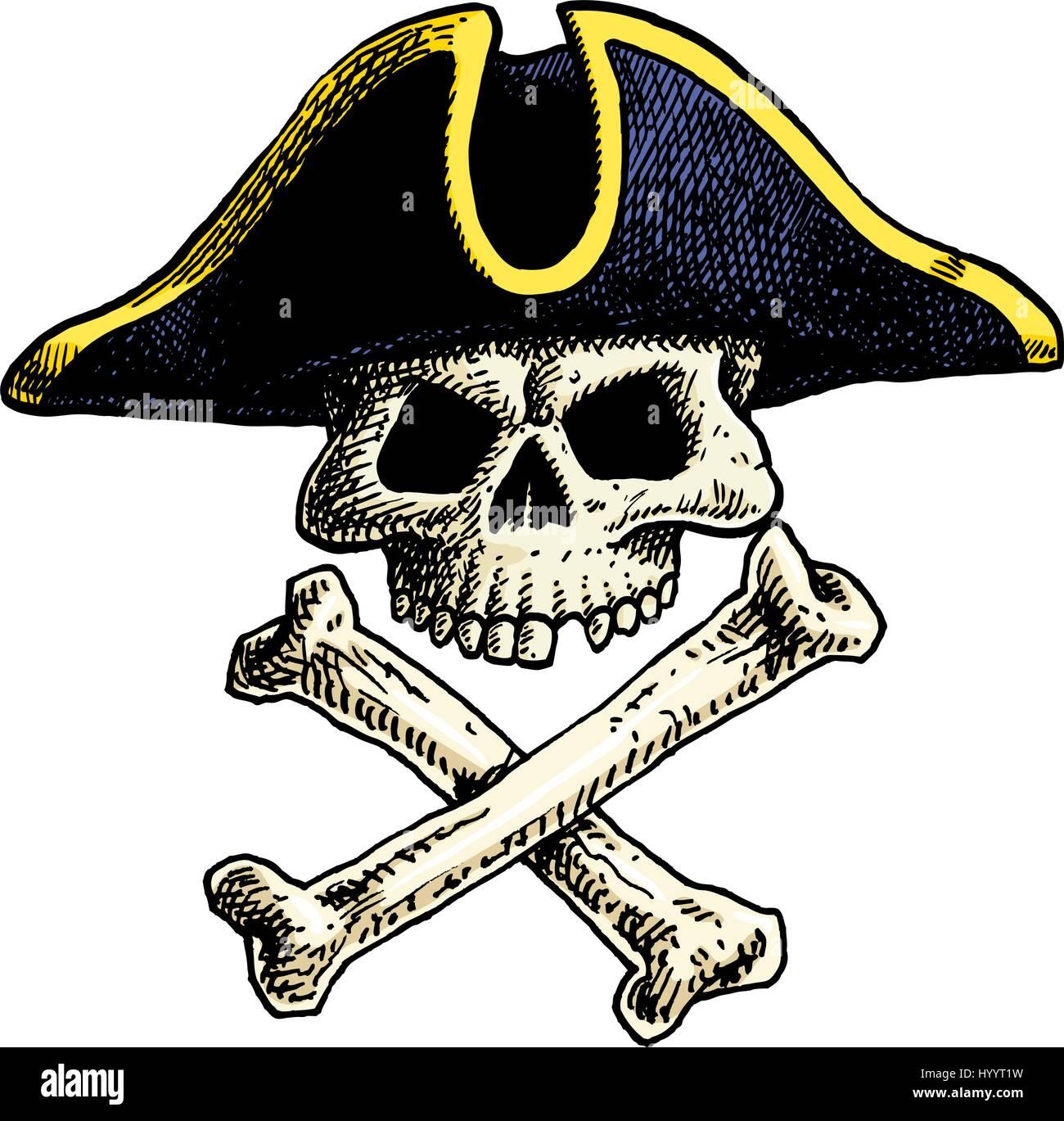 Tattoo Style Skull Illustration Stockfotos & Tattoo Style Skull ...