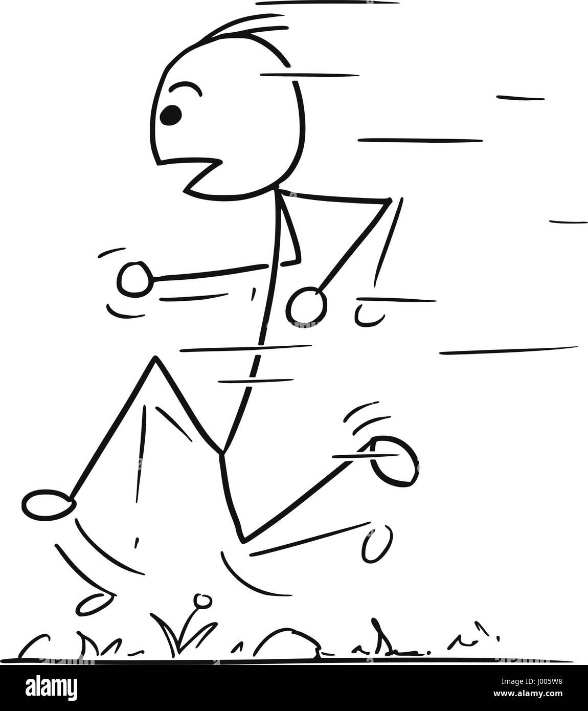 Strichmännchen Rennen