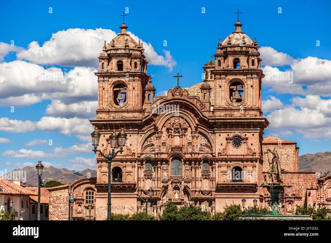 Kirche der Gesellschaft Jesu, eine der größten Kathedralen von Cuzco, Peru Stockfoto