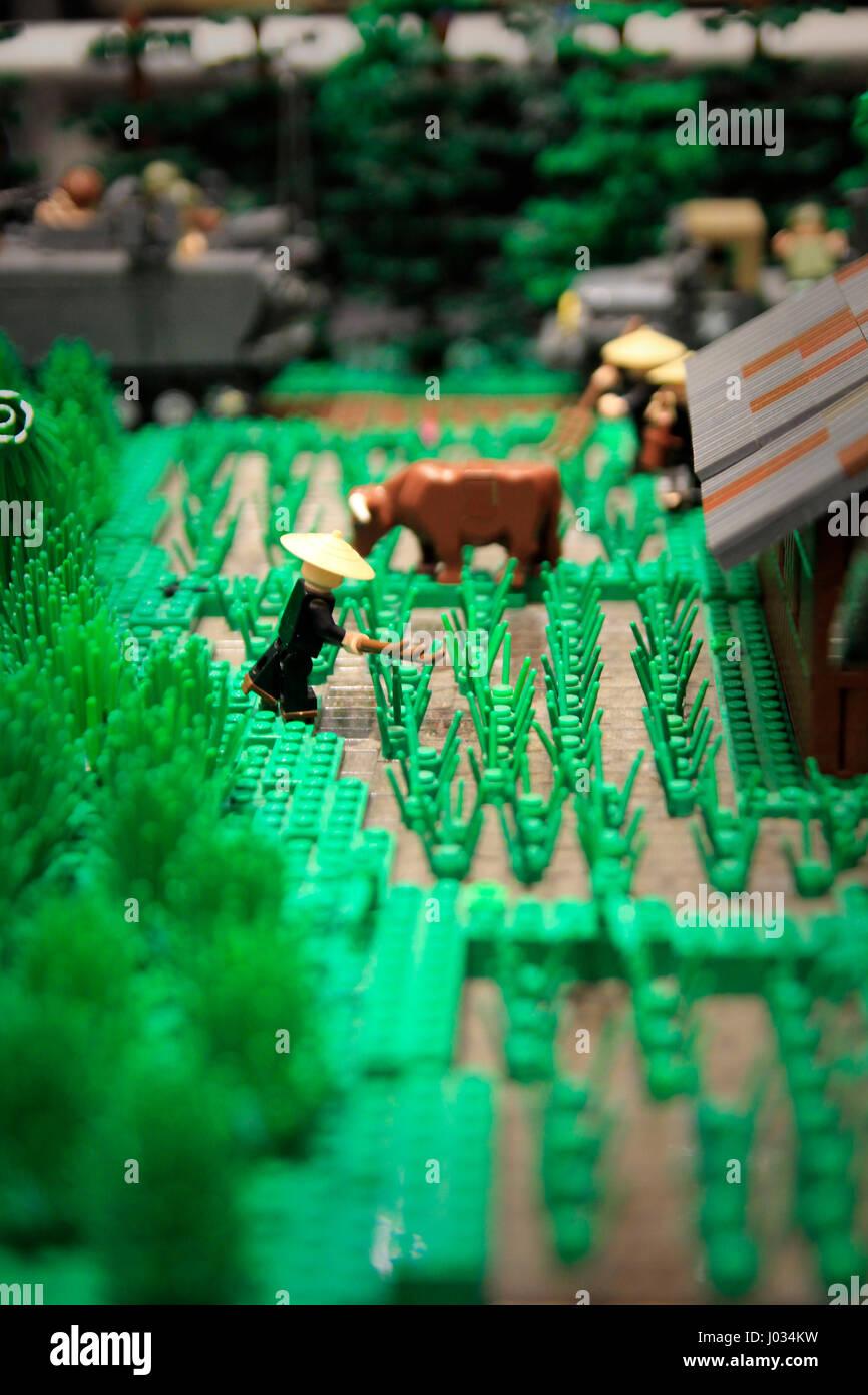 Vietnam Reis Pattie Replik 2017 Lego Konvention Raleigh North Carolina Stockbild