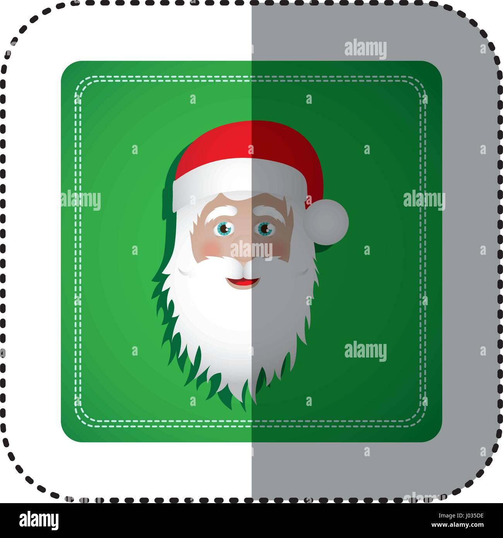 Sticker bunt quadratischen Rahmen mit Weihnachten Weihnachtsmann ...