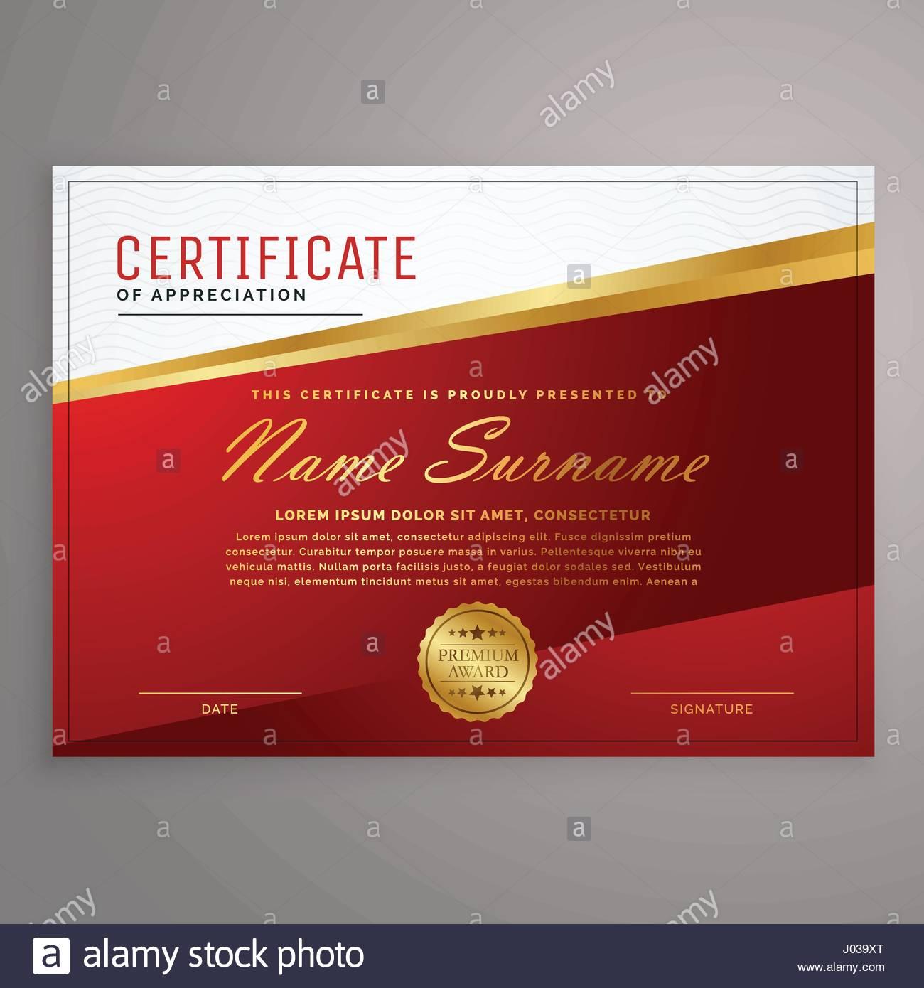kreative roten und goldenen Design Zertifikatvorlage Vektor ...