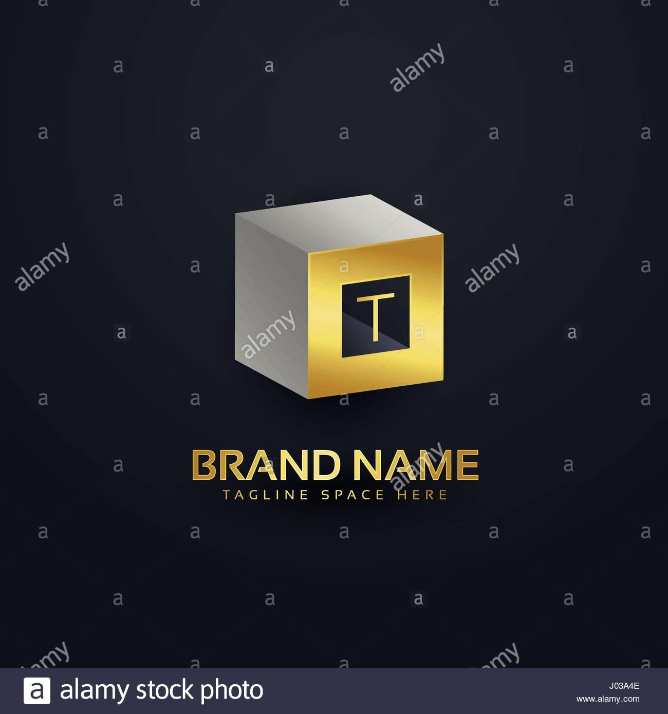 3d Buchstaben T Logo Design Vorlage Vektor Abbildung Bild