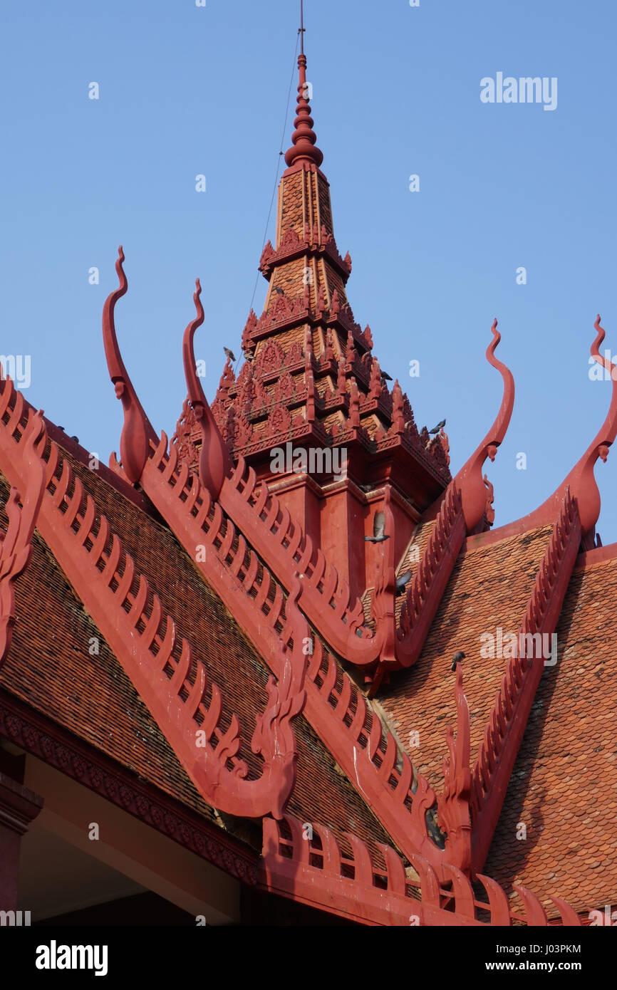 Nationales Museum von Kambodscha, Phnom Penh Stockbild
