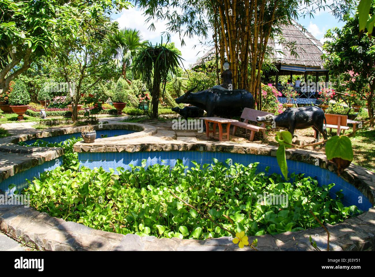 Schone Garten In Einem Outdoor Restaurant Im Mekong Delta Vietnam