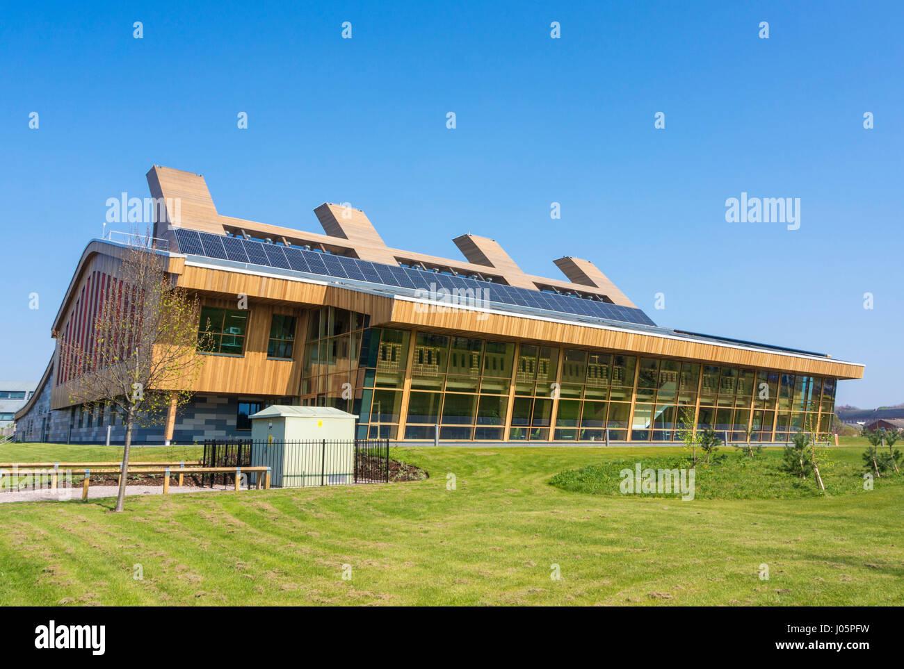 Nottingham University GSK Carbon neutral Labor für nachhaltige Chemiegebäude Jubilee Campus Nottingham Stockbild