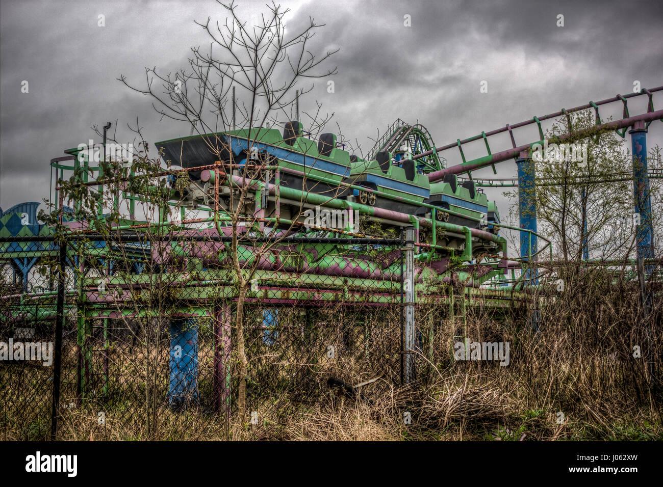 NEW ORLEANS: Spannende Bilder erschienen zeigt die vergessene Vergangenheit von einer verlassenen Themenpark, der Stockbild