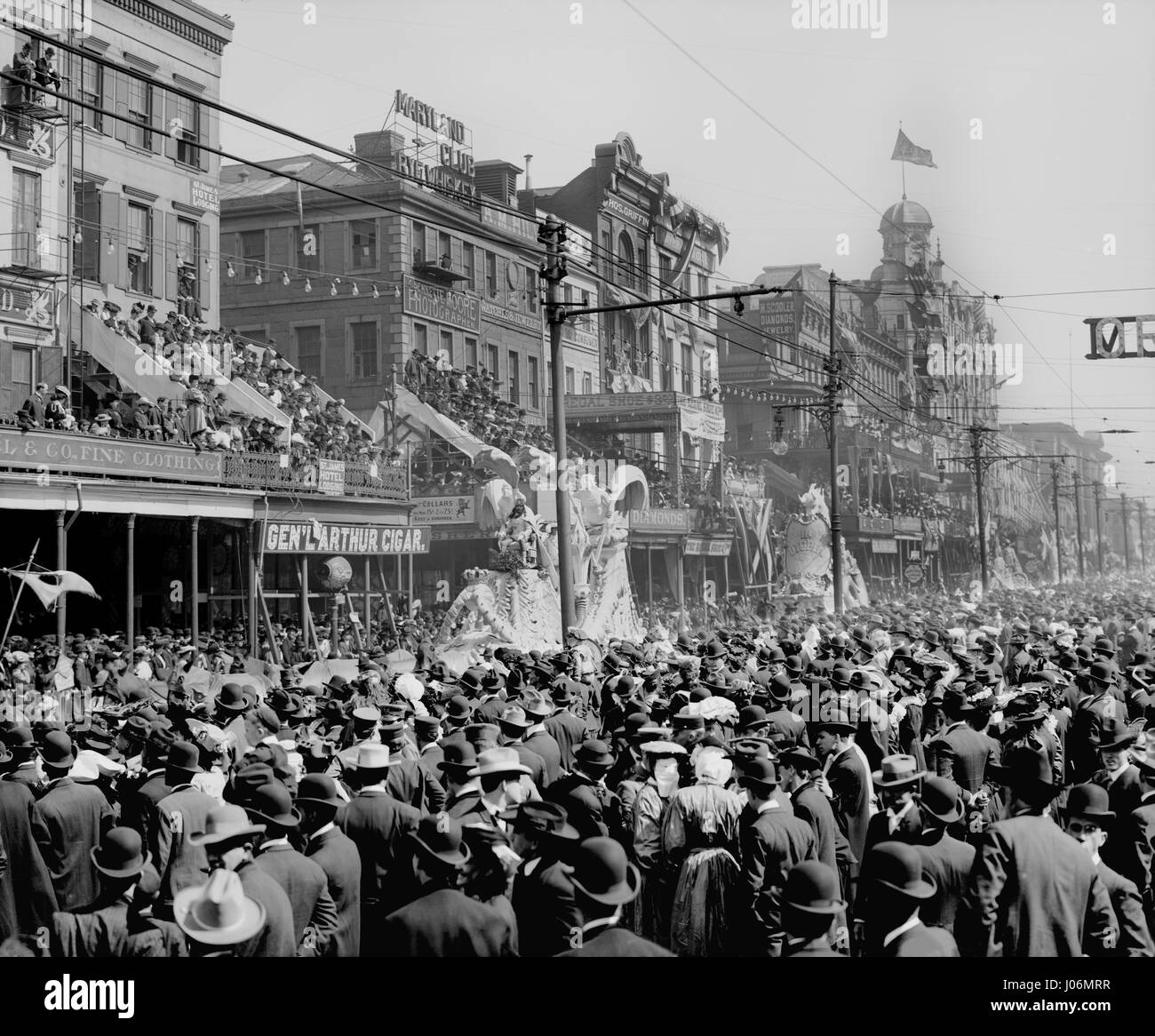 Rot Pageant, Karneval Parade, New Orleans, Louisiana, USA, Detroit Publishing Company, 1890 Stockbild