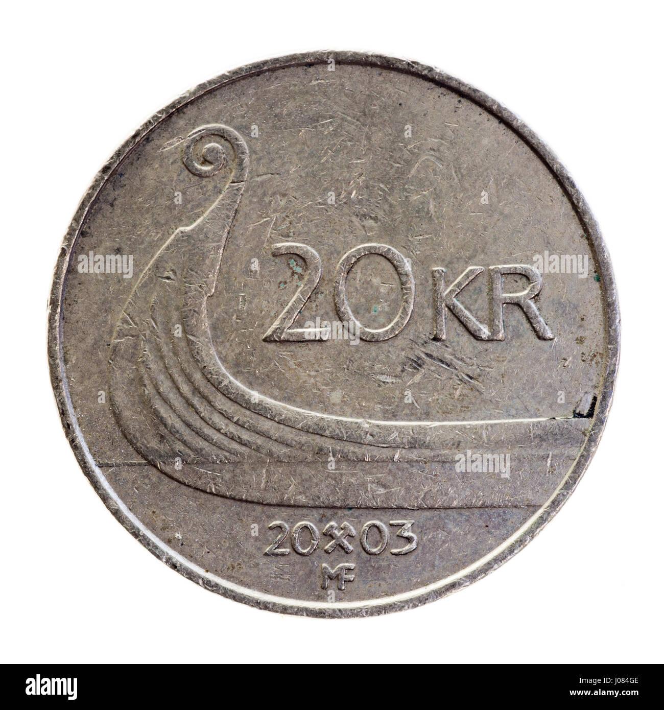 20 Norwegische Kronen Münze Stockfoto Bild 137862158 Alamy