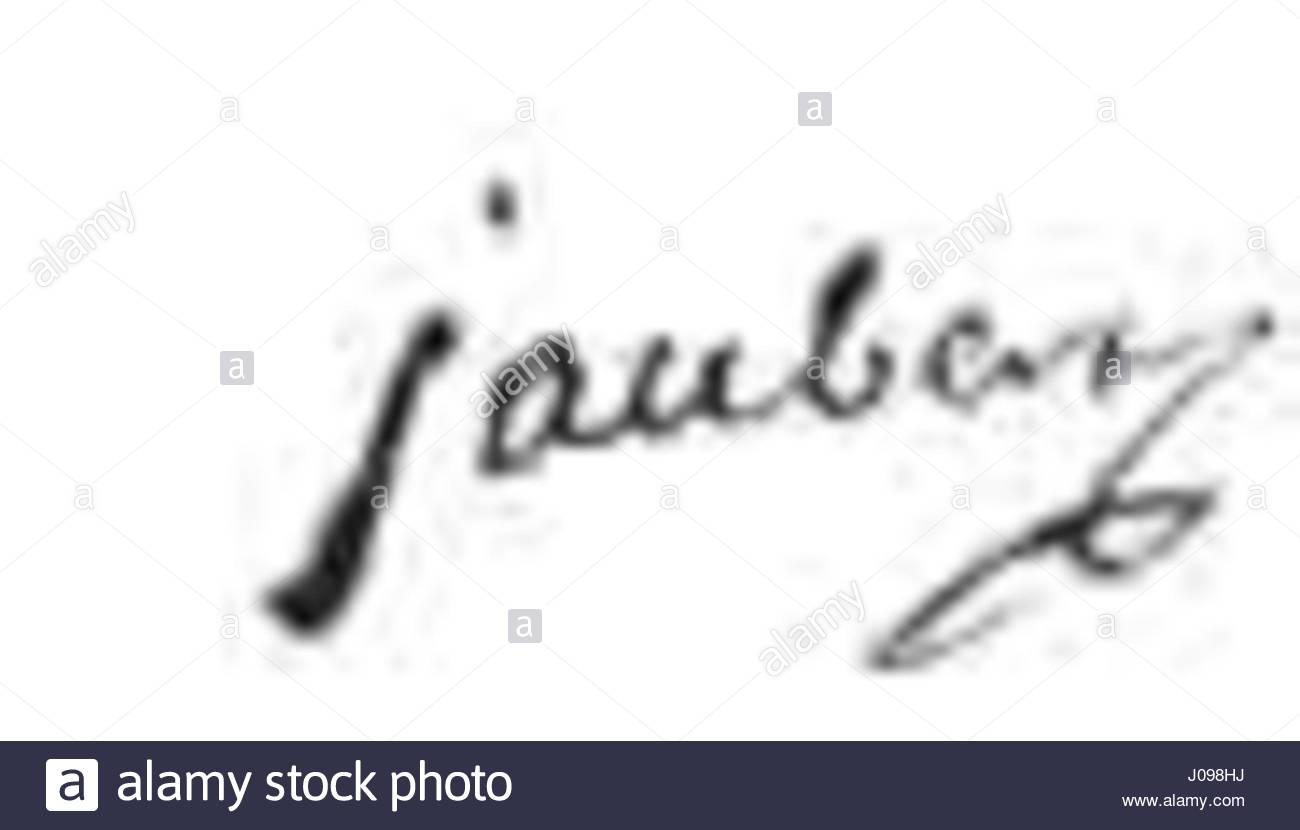 Unterschrift Jaubert François (1758-18) Stockbild