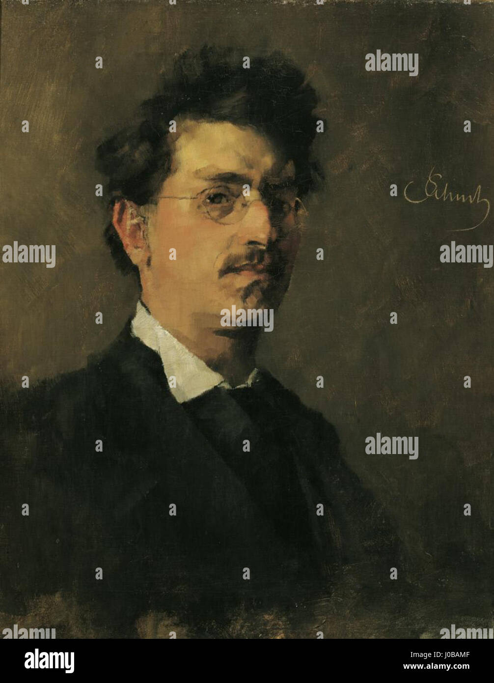 Carl Schuch, Selbstportät 1876 Stockfoto
