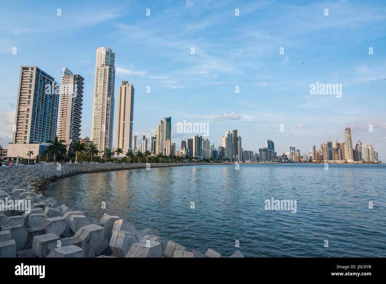 Skyline von Panama City, Panama, Mittelamerika Stockbild