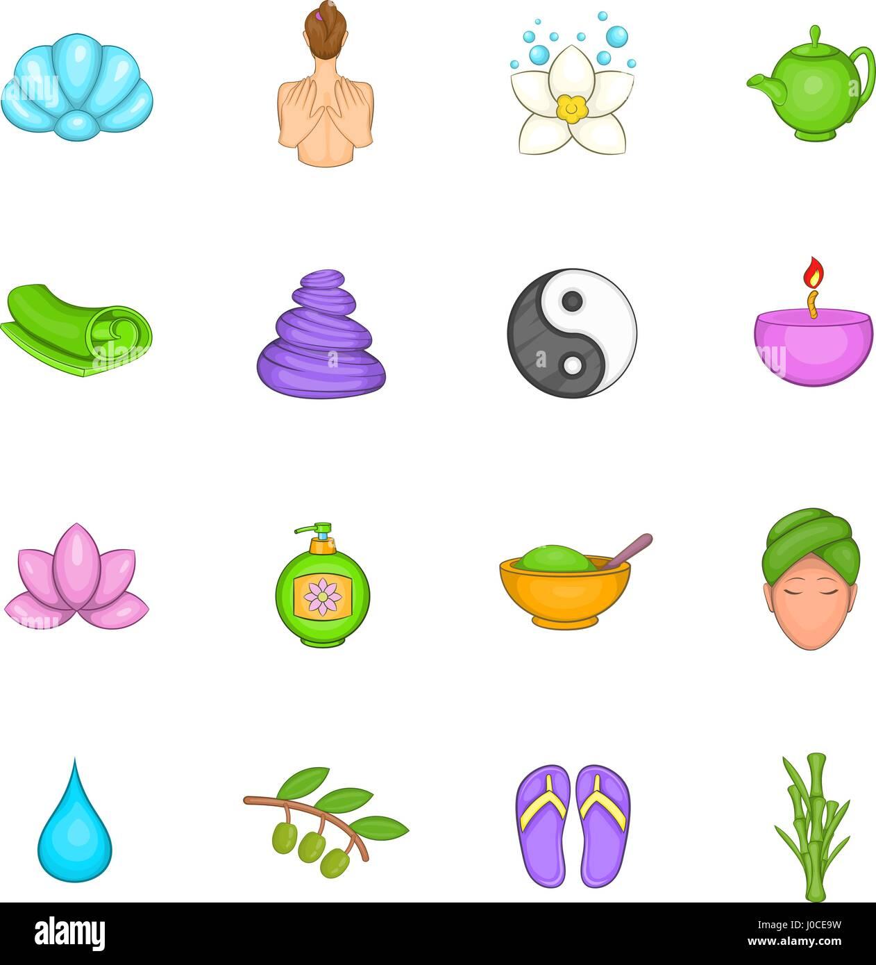 Wellness Zen Natural Spa Icons Stockfotos & Wellness Zen Natural Spa ...
