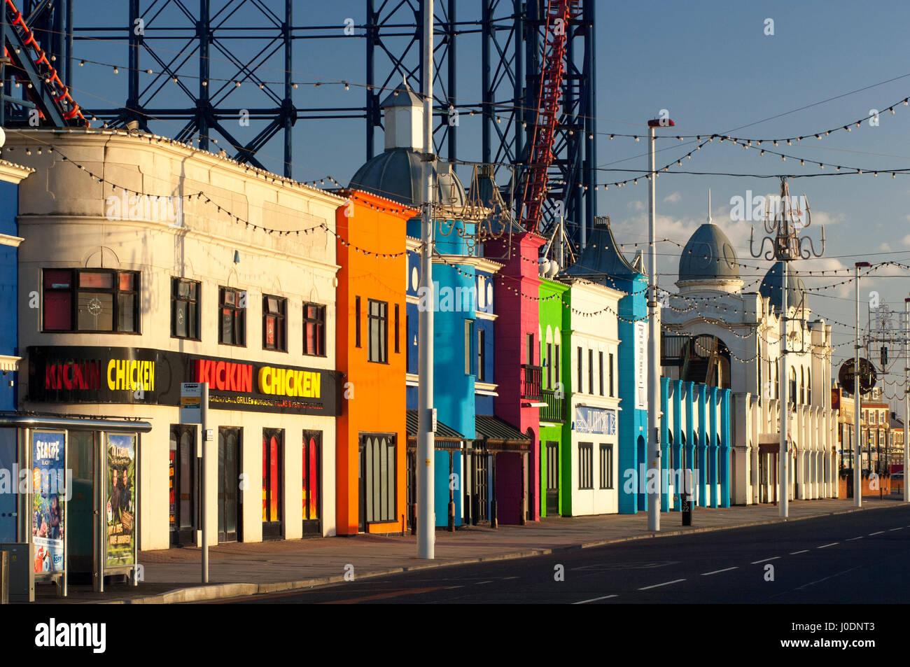 Blackpool Promenade Hauptstraße während Blackpool Beleuchtung Licht-Festival. Stockbild
