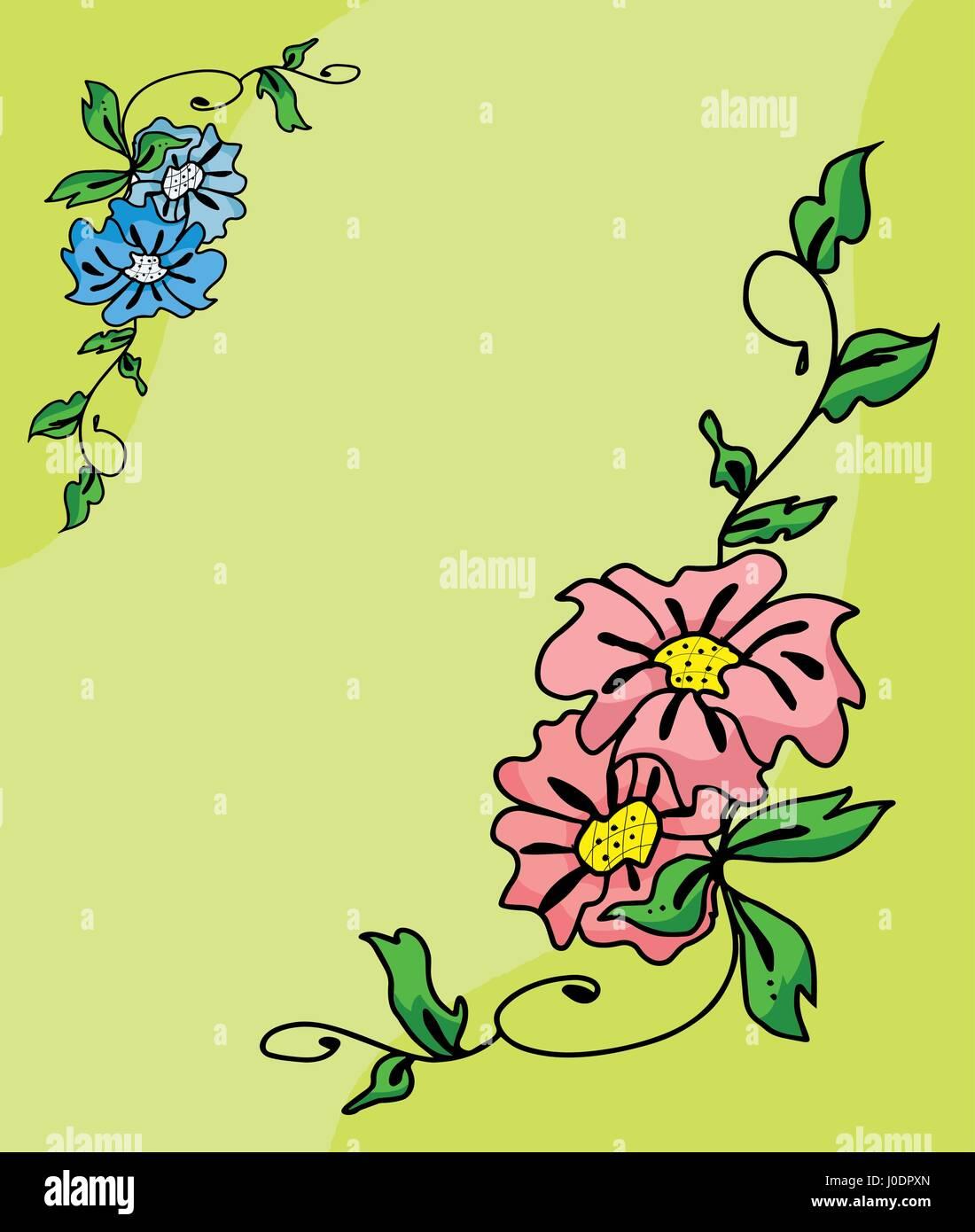Bunte Blumen Rahmen Vektor Vektor Abbildung - Bild: 137986317 - Alamy