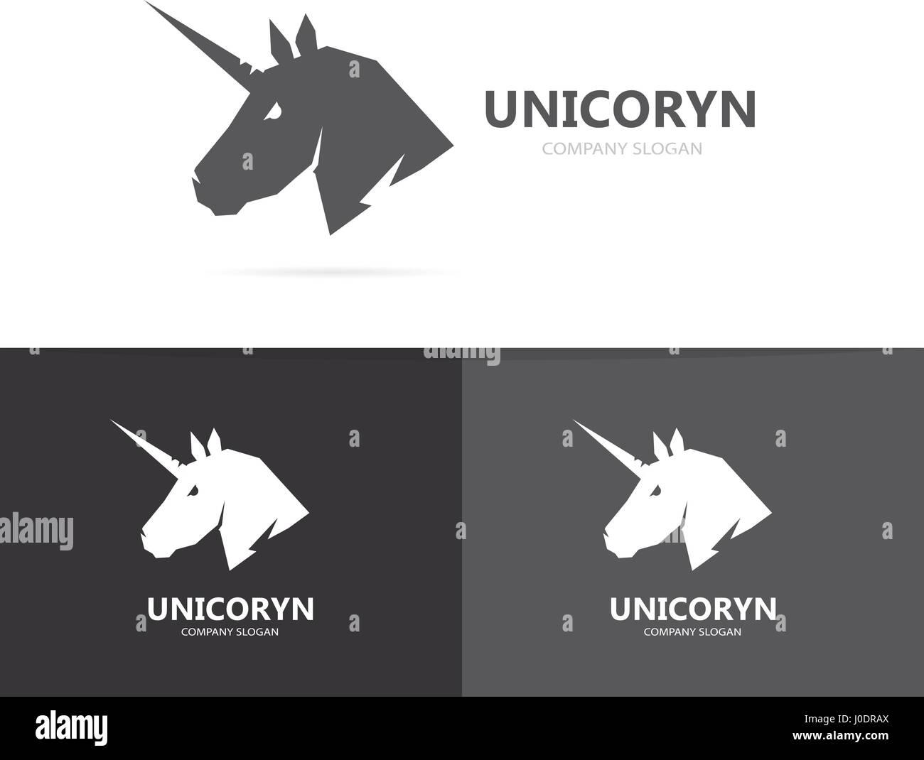 Vektor der Einhorn oder Pferd Logo Vorlage Vektor Abbildung - Bild ...