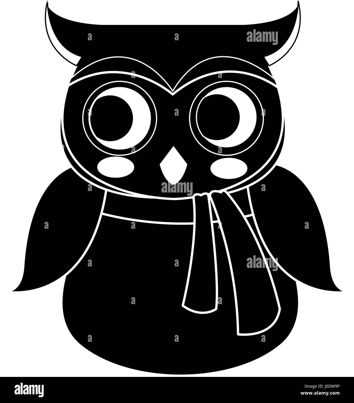 Cute Cartoon Wise Owl Wearing Stockfotos & Cute Cartoon Wise Owl ...