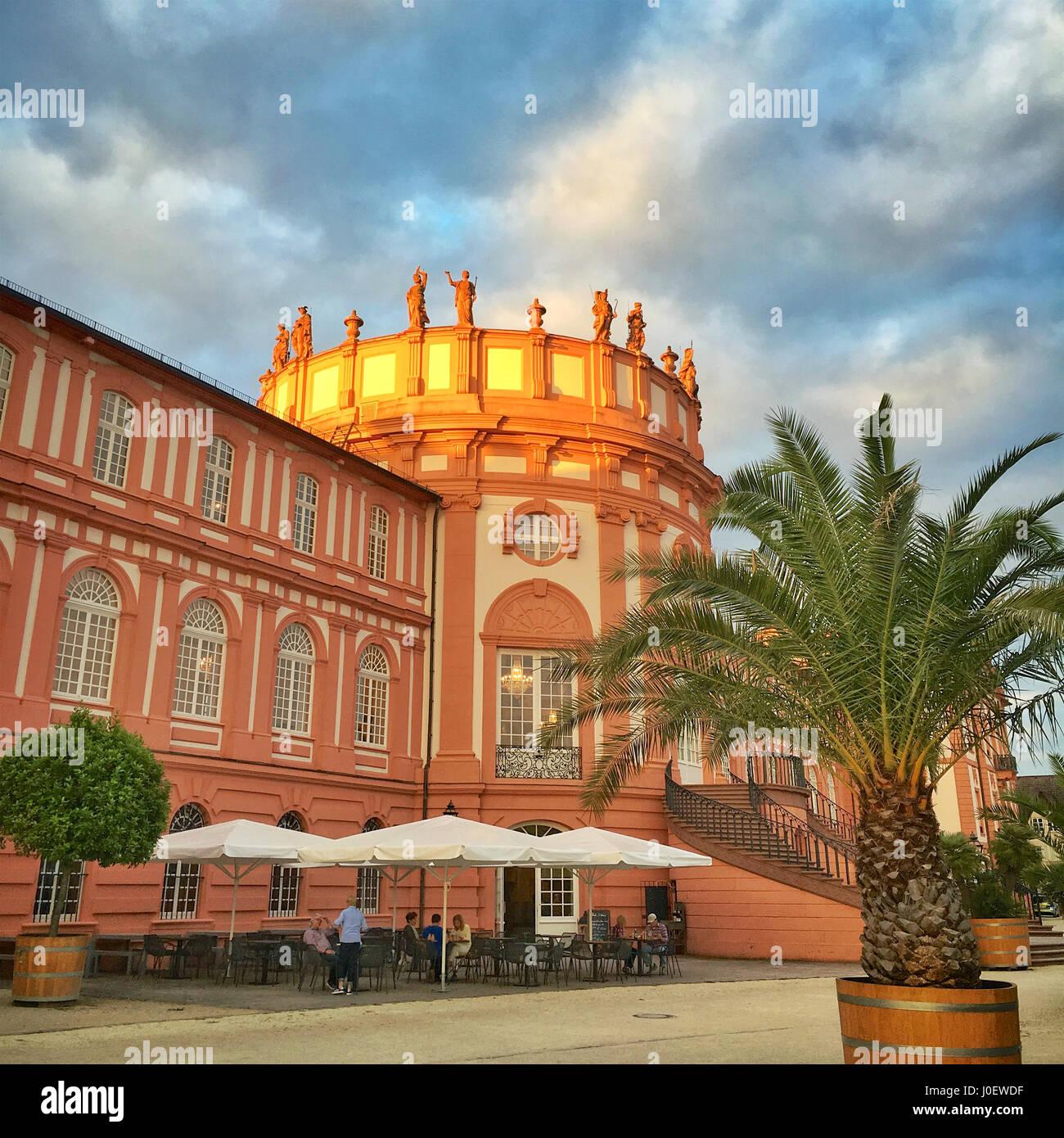 Schloss Wiesbaden Biebrich Deutschland Stockfoto Bild