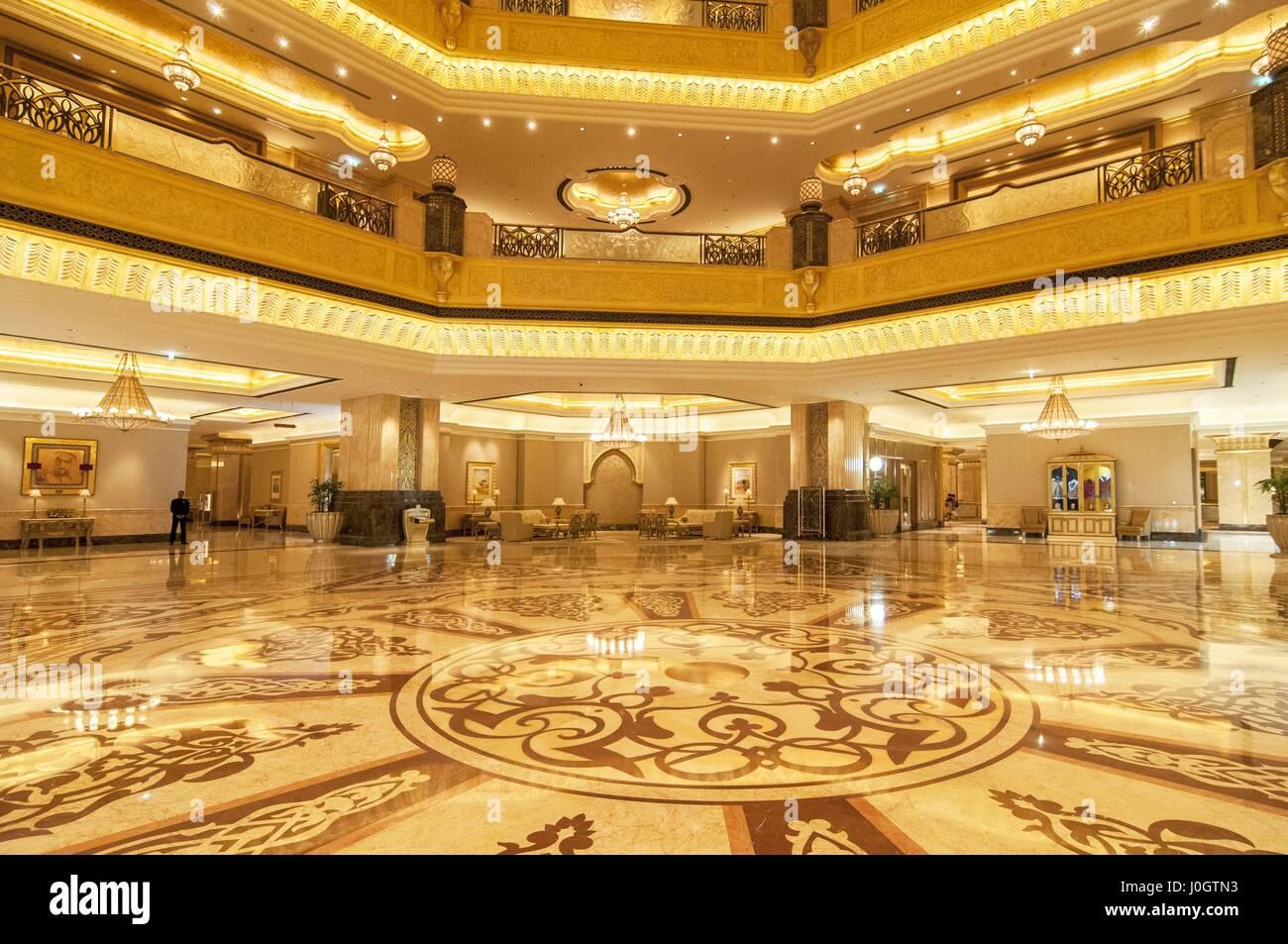 Saal Dekoration Im Emirates Palace Hotel Ein Luxuriöses Und Die