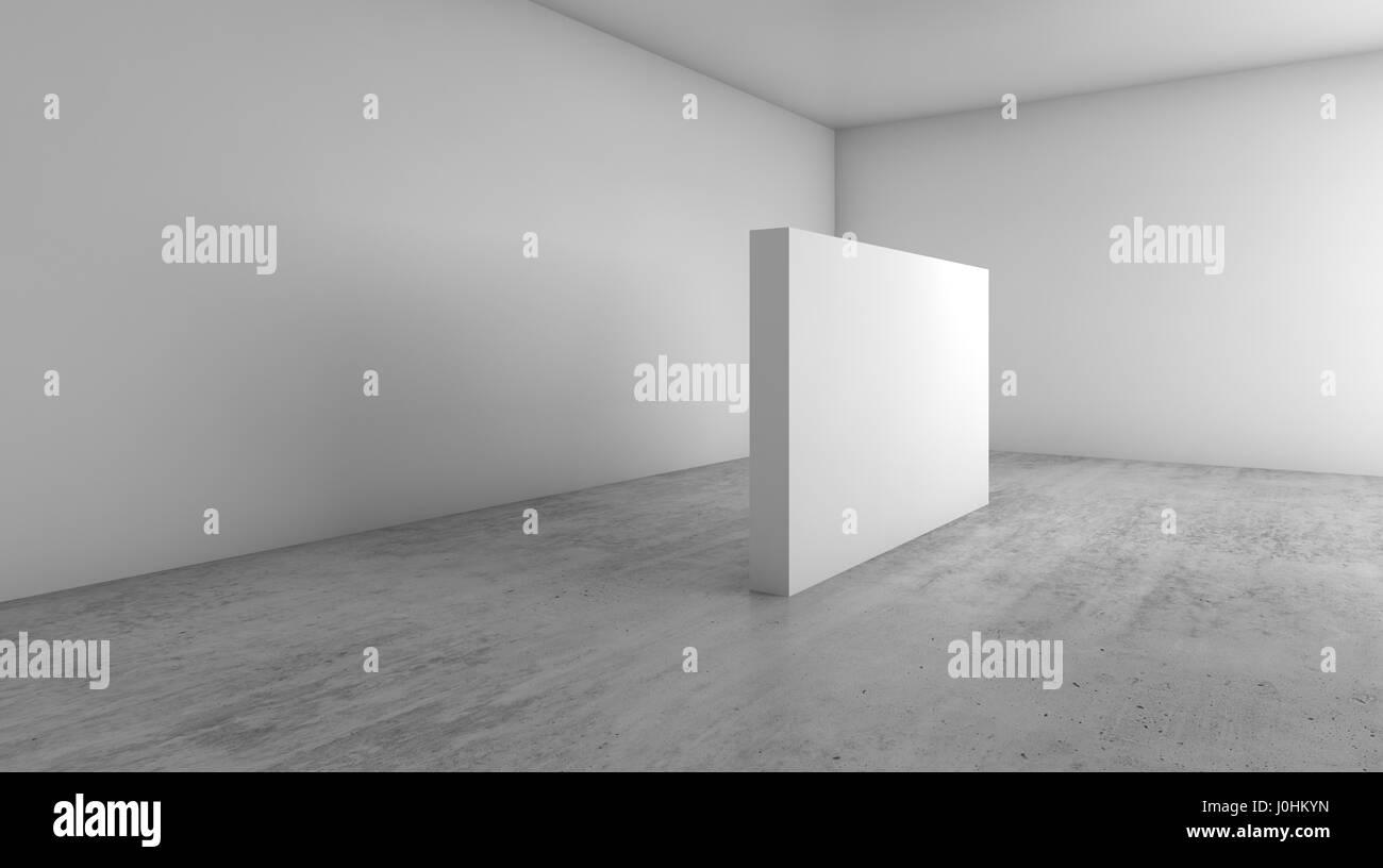Abstrakte leeren weißen Innenraum Hintergrund, leere Banner auf ...
