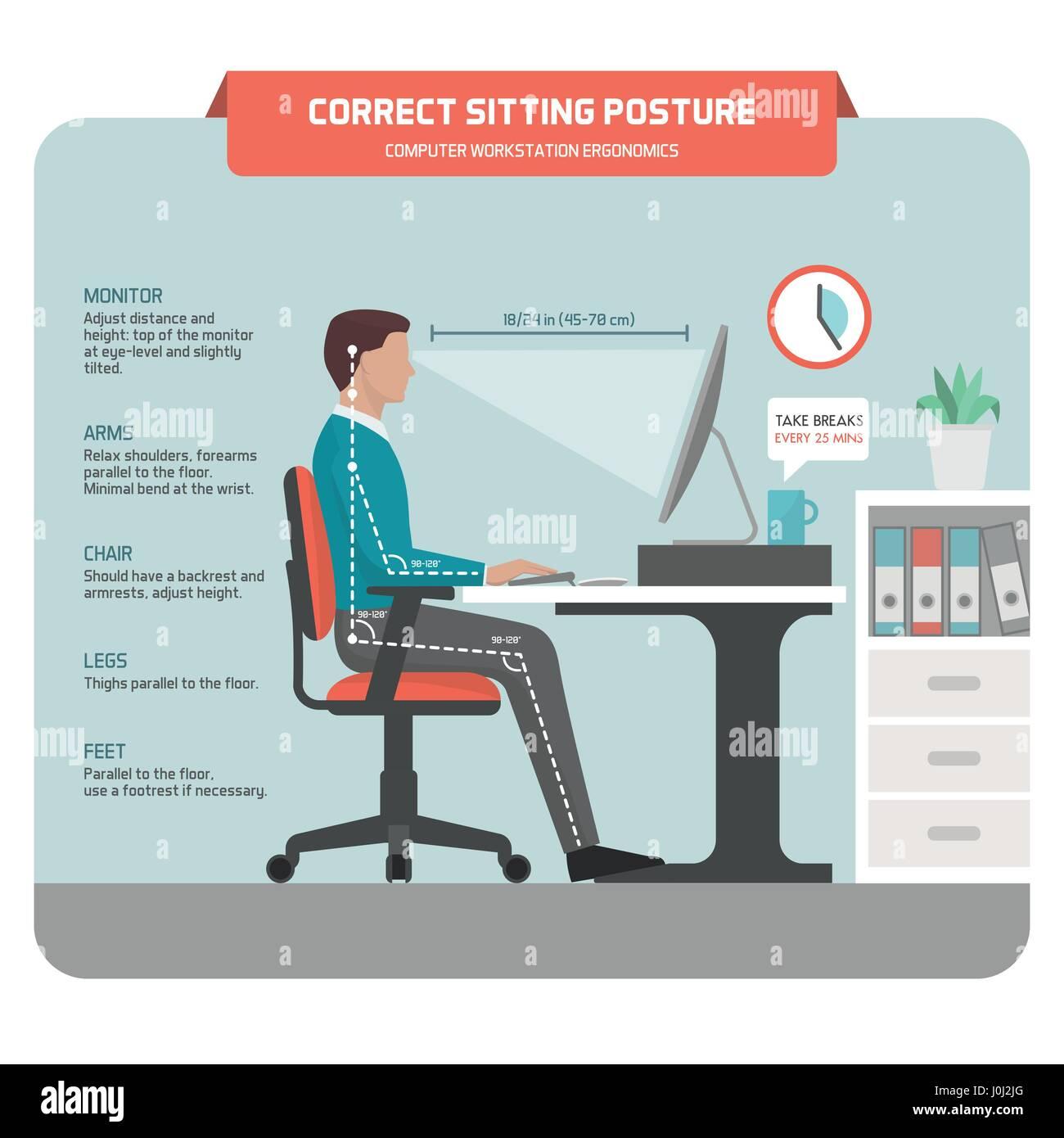 Richtig Sitzen Am Schreibtisch Haltung Ergonomie Büroangestellte