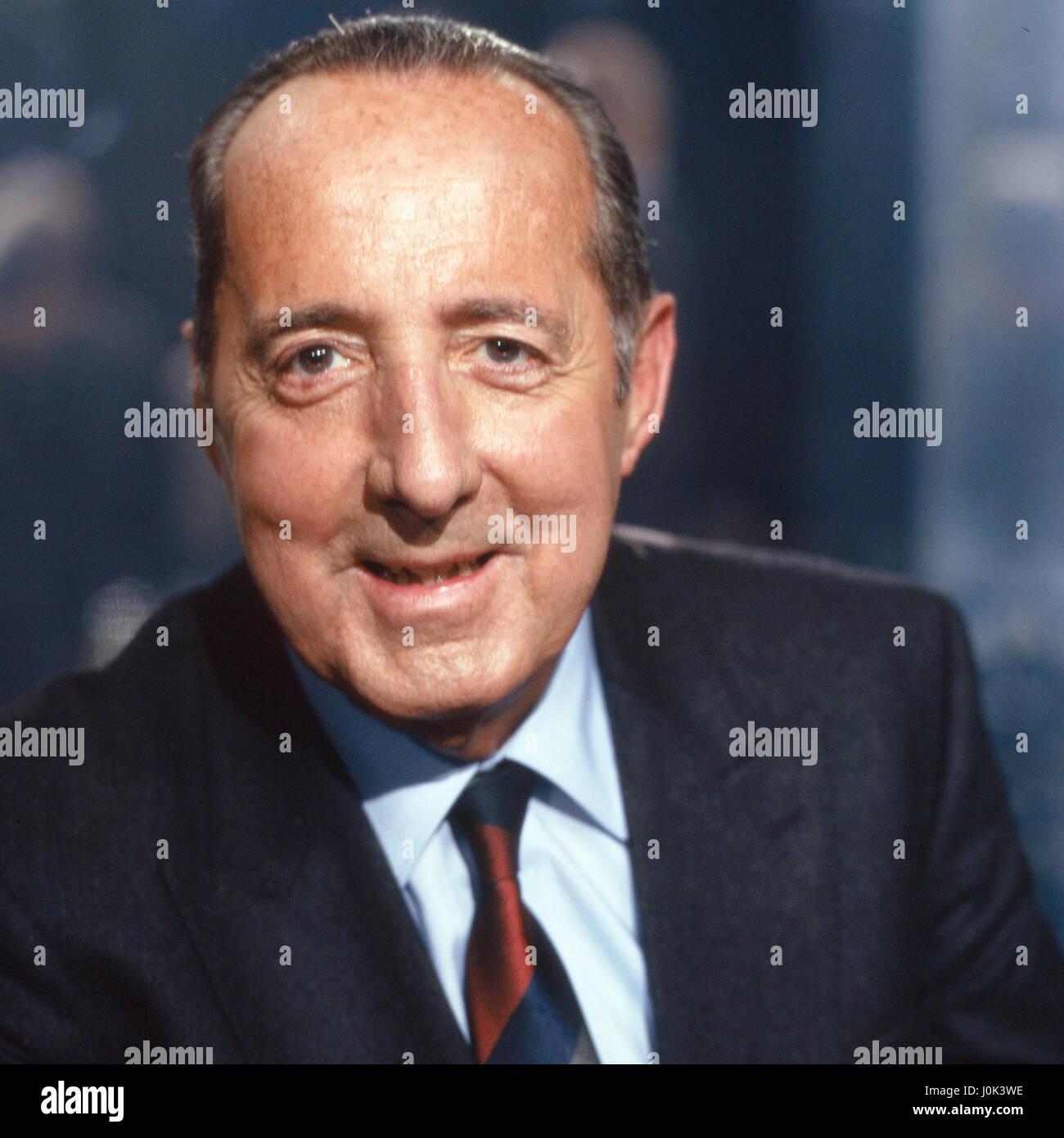 Deutsch französischer Journalist und Publizist Peter Scholl-Latour, Deutschland 1980er Jahre. Deutsch französischer Stockbild