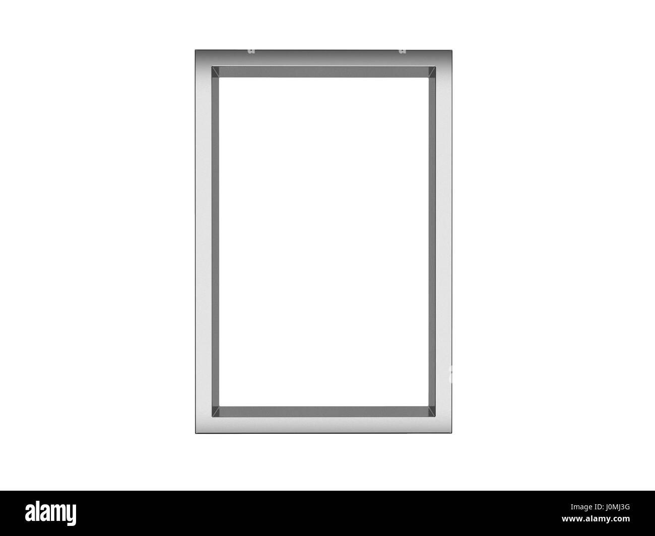 Gallery White Interior Empty Desk Stockfotos & Gallery White ...