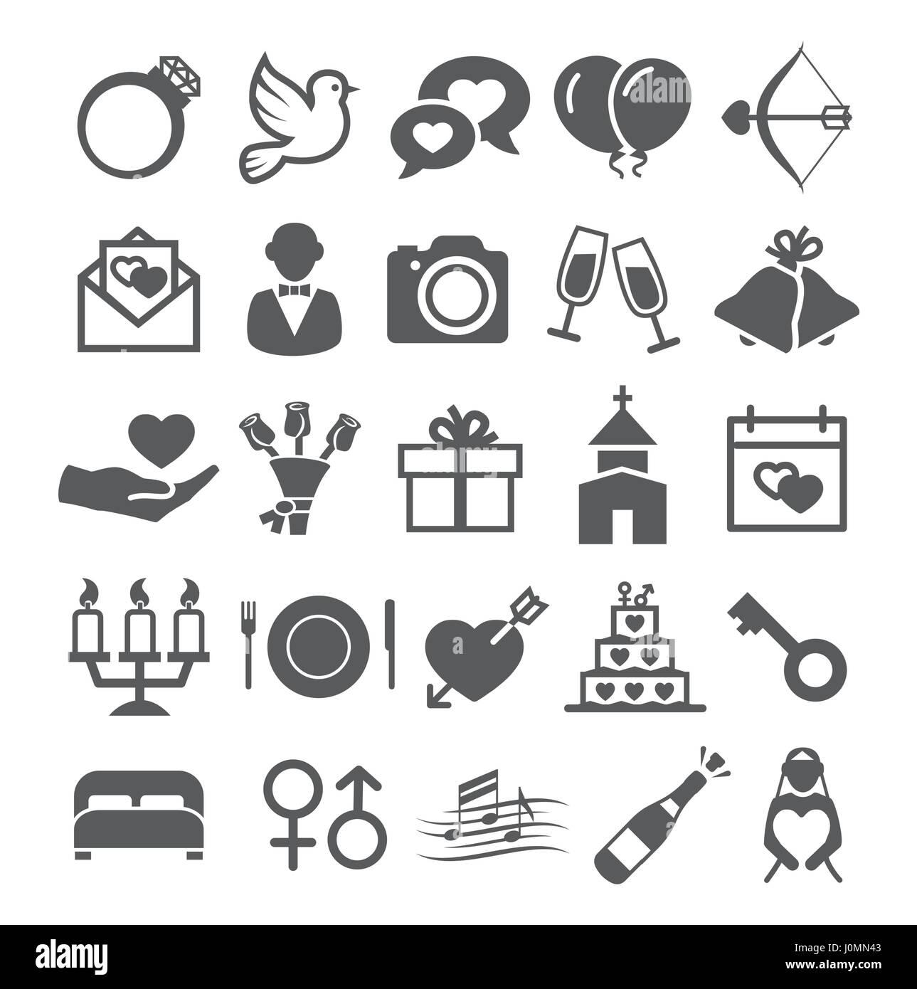Hochzeit Symbole Vektor Abbildung Bild 138138563 Alamy