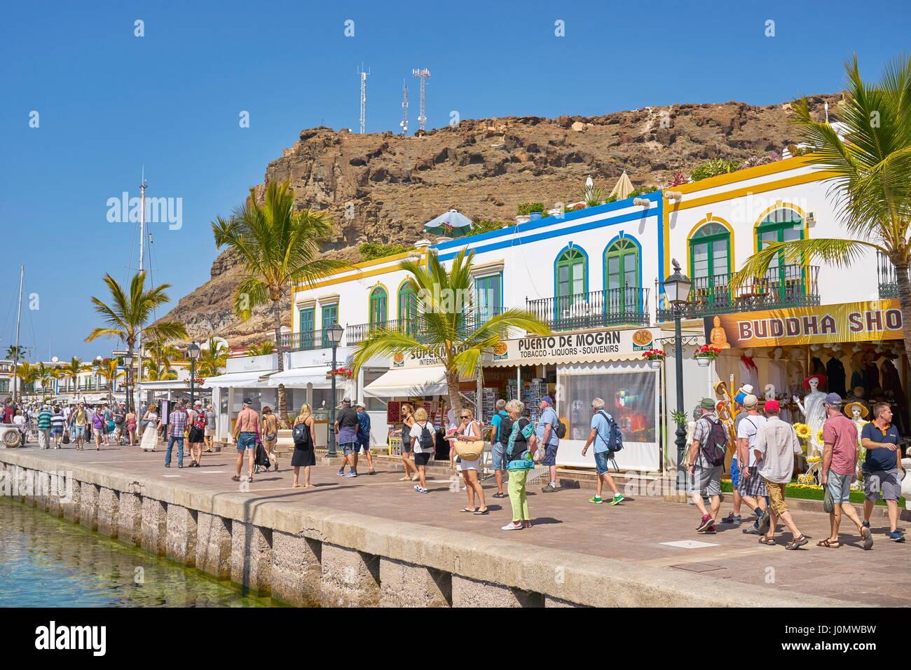 Kanarische Inseln, Gran Canaria, Puerto de Mogan, Spanien Stockbild