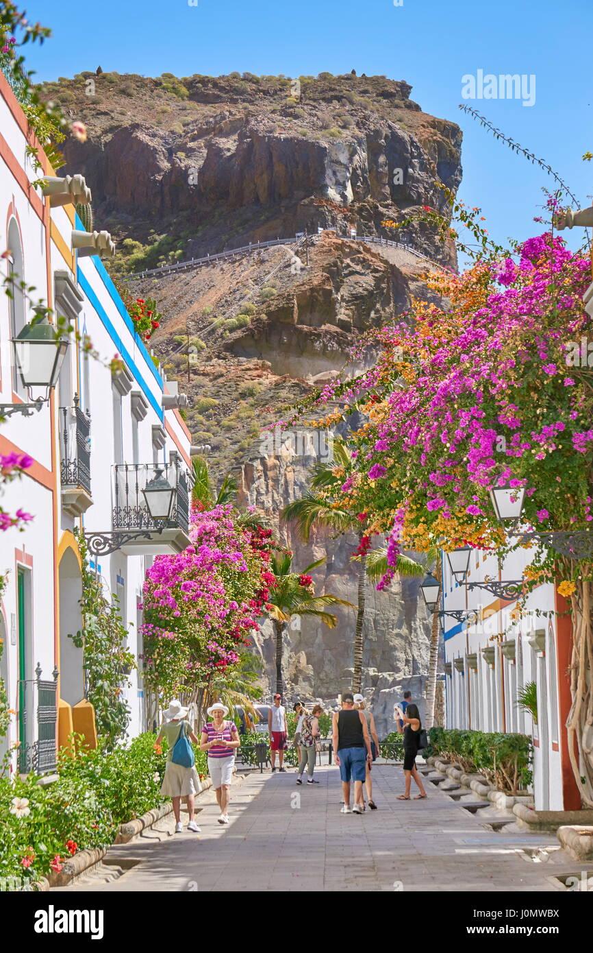 Puerto de Mogan, Gran Canaria, Kanarische Inseln, Spanien Stockbild
