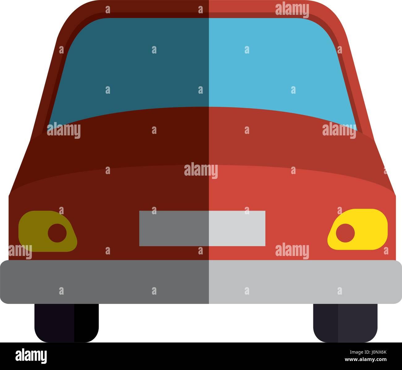 Auto-Fahrzeug-isoliert-Symbol Stockbild