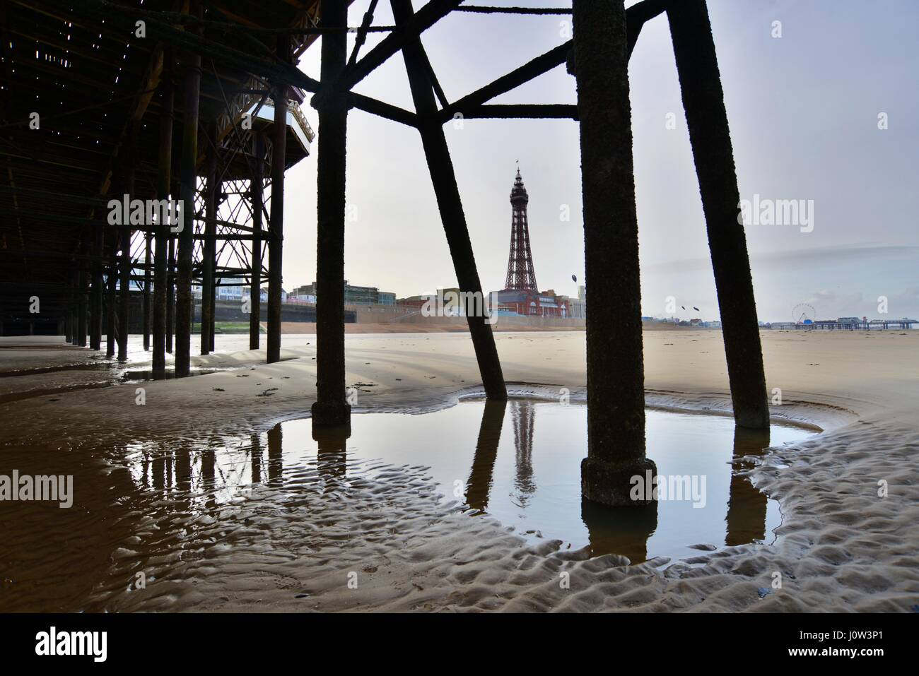 Blackpool Tower, Lancashire, UK. Bild: Scott Bairstow Stockfoto