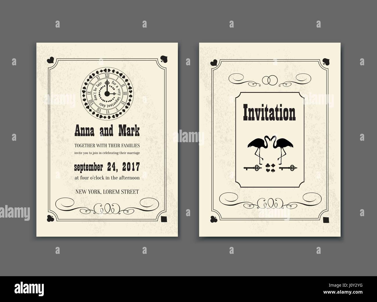 Hochzeitsfeier Im Wunderland Speichern Sie Das Datum Einladung