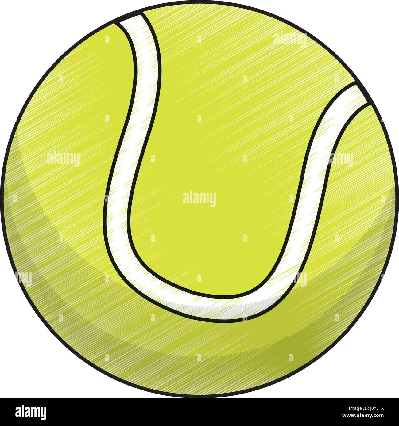 release date: 3a921 19b3d Zeichnung Tennisausrüstung Kugel Vektor Abbildung - Bild ...